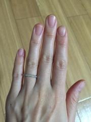 【銀座ダイヤモンドシライシの口コミ】 婚約指輪は必要なかったので、結婚指輪は輝きがあるハーフエタニティにし…