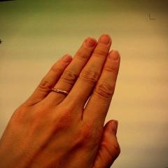 【カルティエ(Cartier)の口コミ】 元々話し合ってこの指輪にしようということになっていました。 実際に見て…