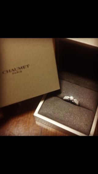 【ショーメ(CHAUMET)の口コミ】 本当にたくさんの指輪を見に行きました。 その中で、デザインが気に入った…