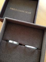 【PAVEO CHOCOLAT(パヴェオショコラ)の口コミ】 婚約指輪は購入してないので、結婚指輪にはダイヤを入れようと思いました…