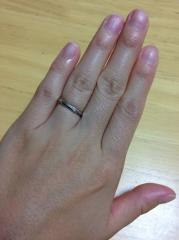 【Cafe Ring(カフェリング)の口コミ】 プラチナ専門店ということで私も主人も肌が弱いので安心して購入することが…
