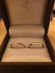 【BAUM(バーム)の口コミ】 いろんな指輪を見た中で、この指輪を見た瞬間一目惚れして、これに決めま…