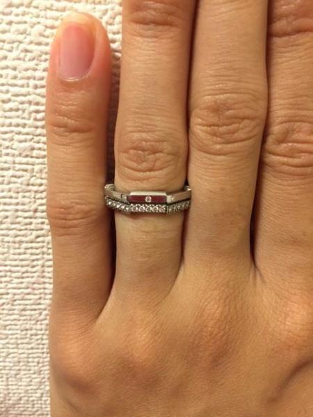 outlet store 7cbc8 d9c71 1番の決め手は婚約指輪と結婚指輪がセットでつけられるところ ...