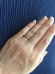 【ティファニー(Tiffany & Co.)の口コミ】 すっきりしたデザインの中にもプラチナとゴールドが両方入っていて、華やか…