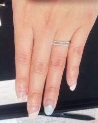 【ティファニー(Tiffany & Co.)の口コミ】 ティファニーで買おうと決めていました。ダイヤがあしらわれているデザイ…