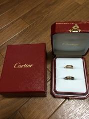 【カルティエ(Cartier)の口コミ】 初めから決めていた。プラチナのシンプルなのもいいが、前の結婚のときに…