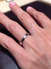 【ギンザタナカブライダル(GINZA TANAKA BRIDAL)の口コミ】 細すぎず太すぎない指輪を探していたので,理想の指輪に出会えたと思ってい…