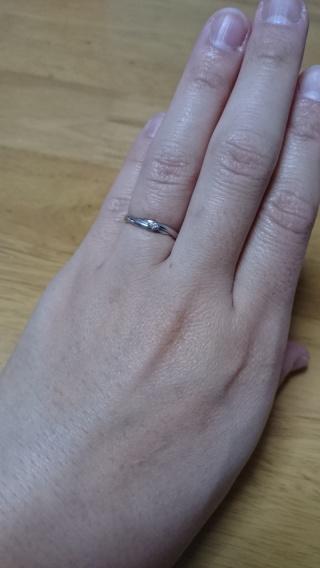 【スタージュエリー(STAR JEWELRY)の口コミ】 海猿モデルの指輪で、二人とも海猿が好きという理由とデザインが気に入って…