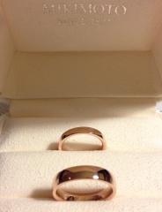 【MIKIMOTO(ミキモト)の口コミ】 元々シンプルなデザインでつけ心地の良いピンクゴールドの指輪を購入した…