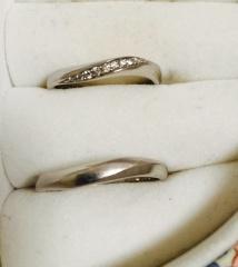 【4℃(ヨンドシー)の口コミ】 指輪をしたことのない夫でも似合うデザインを探しました。自分用は細かな…