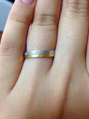 【Petit Marie(プチマリエ)の口コミ】 指輪の購入の決め手は、指輪を気に入ったのももちろんなんですが、接客して…