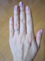 【ケイウノ ブライダル(K.UNO BRIDAL)の口コミ】 結婚指輪を夫婦各自で探していました。「通勤中に色んな人の手を見て、どん…