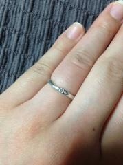 【TRECENTI(トレセンテ)の口コミ】 ブライダル雑誌の式場相談の後、いくつかのブランドの指輪を見せてもらい…
