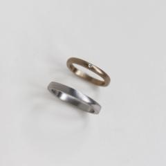【mina.jewelry(ミナジュエリー)の口コミ】 夫が指輪をつけ慣れておらず、既製品ではつけ心地がしっくりこなかったの…