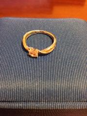 【ガラOKACHIMACHIの口コミ】 一粒石の輝きはとても綺麗だった。永遠の愛を象徴するダイヤモンドにしたく…