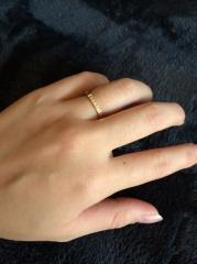 【カルティエ(Cartier)の口コミ】 ゴールドの指輪が欲しくて探してたんですが、なかなかいいのに巡り会えず…