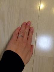 【シャネル(CHANEL)の口コミ】 3つのダイヤが意外と目立つのがポイントです。単品で付けてもいいのですが…