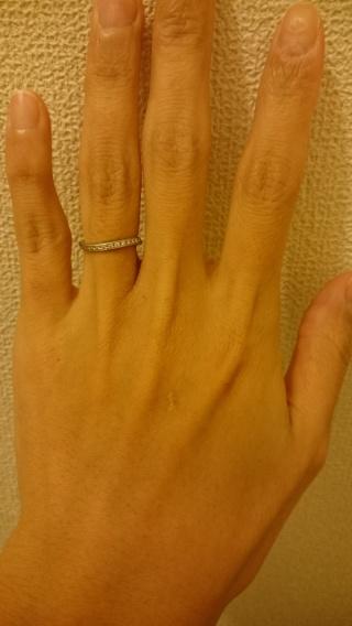 【ギンザタナカブライダル(GINZA TANAKA BRIDAL)の口コミ】 少し太めで大きいダイヤが一つついた指輪と購入した指輪を最後まで悩み店…