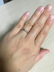 【カルティエ(Cartier)の口コミ】 結婚指輪は憧れのブランドであるカルティエにしようと随分前から決めてい…