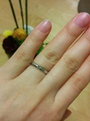 【ORECCHIO(オレッキオ)の口コミ】 結婚情報紙で見てから同シリーズの婚約指輪に一目惚れ。店舗で確認したら写…