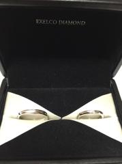 【エクセルコダイヤモンド(EXELCO DIAMOND)の口コミ】 デザインがとても良いです。シンプルで付けやすいと思います。婚約指輪もエ…