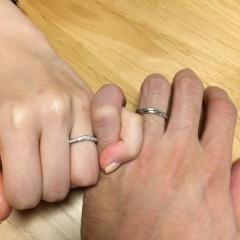 【銀座ダイヤモンドシライシの口コミ】 キラキラのハーフエタニティにひとめぼれしました! 他ブレンドでは、あり…
