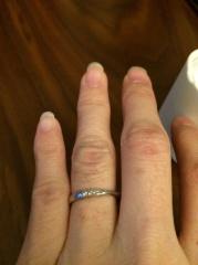 【銀座ダイヤモンドシライシの口コミ】 結婚式紹介場から紹介されて一番始めに訪れました。 スタッフの方がとって…