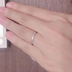 【ANTWERP BRILLIANT(アントワープブリリアント)の口コミ】 シンプルなデザインよりもダイヤモンドの存在感がしっかりとあるものを希…