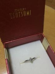【ジュエリーツツミ(JEWELRY TSUTSUMI)の口コミ】 旦那が買ってきてくれたのですが、当時お金もなく、大金をかけて指輪を買…