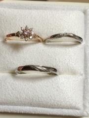 【LUCIE(ルシエ)の口コミ】 婚約指輪のデザイン。一粒ダイヤのプラチナの婚約指輪があまり好きではな…