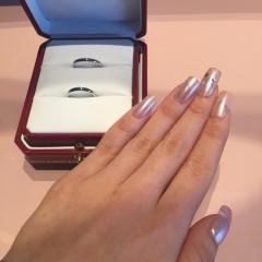 【カルティエ(Cartier)の口コミ】 接客業をしている主人の意向で結婚指輪はカルティエでと決めていたので購入…