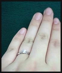 【MIKIMOTO(ミキモト)の口コミ】 私の希望が、できるだけ大きい一つダイヤの指輪でした。旦那さんに頼んだ…