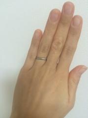 【ティファニー(Tiffany & Co.)の口コミ】 旦那さんよりティファニーの婚約指輪を贈られたので、結婚指輪も揃えました…