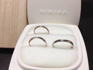 【俄(にわか)の口コミ】 特に結婚指輪の雪佳景のピンクゴールドとプラチナの2色使いに一目惚れでし…