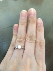 【ティファニー(Tiffany & Co.)の口コミ】 やはり婚約指輪というからには、それなりにきちんとしたものがほしかったの…