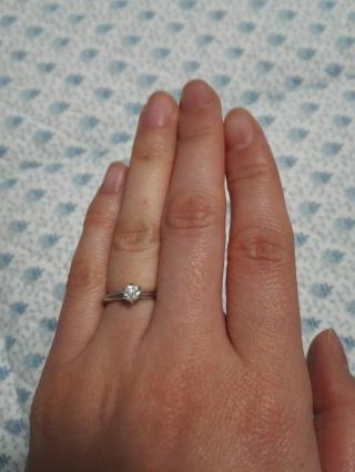 【ティファニー(Tiffany & Co.)の口コミ】 当時お付き合いをしていた旦那にかねてから婚約指輪はいらないと話していた…