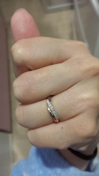 【アイプリモ(I-PRIMO)の口コミ】 もともと私がコンビのタイプでダイヤが入っていてカーブのもの希望だった…