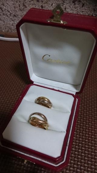 【カルティエ(Cartier)の口コミ】 2人とも太めのリングを探していました。普段から着用できて、尚且つお洒落…