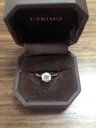 【アイプリモ(I-PRIMO)の口コミ】 彼が1人で選んでプロポーズしてくれたのですが、私の持っているジュエリー…