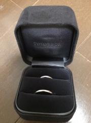 【ティファニー(Tiffany & Co.)の口コミ】 婚約指輪にティファニーをもらっていたので、結婚指輪もティファニーで買う…