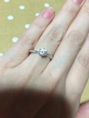 【4℃(ヨンドシー)の口コミ】 フルオーダーで、形から全て決めました。決めては、やはりダイヤモンドです…