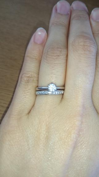 【エクセルコダイヤモンド(EXELCO DIAMOND)の口コミ】 エクセルコさんはやはりダイヤの品質が良かったのでこちらに決めさせて頂…