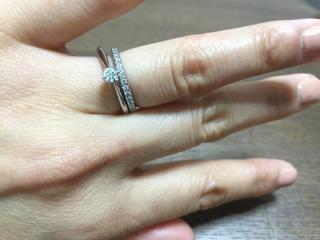 【銀座ダイヤモンドシライシの口コミ】 もともとハーフエタニティが欲しかったのですが、購入したデザインは側面…