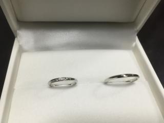 【HOSHI no SUNA 星の砂(ほしのすな)の口コミ】 彼女がダイヤが複数散らばっている指輪&男性の私はできるだけシンプルなも…