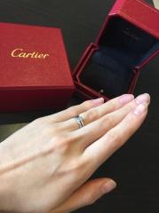【カルティエ(Cartier)の口コミ】 なんと言ってもSOLITAIRE 1895の婚約指輪は、老舗カルティエ…