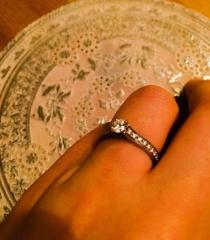 【カルティエ(Cartier)の口コミ】 私は指が太くて短いので、なるべく指まわりを華やかにみせられるように、…