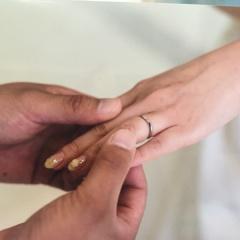 【ヴァンドーム青山(Vendome Aoyama)の口コミ】 つけていてもつけていないぐらい違和感がなく指に馴染むことと、婚約者指…