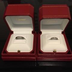 【カルティエ(Cartier)の口コミ】 結婚指輪は毎日、日々の生活においてつけるものなのでシンプルなデザイン…