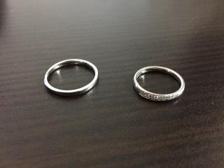 【4℃(ヨンドシー)の口コミ】 ハーフエタニティの結婚指輪を探しており、シンプルかつ女性らしさのあるデ…