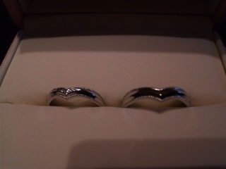 【ケイウノ ブライダル(K.UNO BRIDAL)の口コミ】 世界でたった二つの自分たちだけのオリジナルの指輪を作ることができたこと…